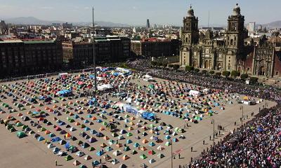 FRENAA, la protesta de los manifestantes a sueldo